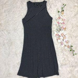 Athleta Black White Santorini Mix Stripe Dress S